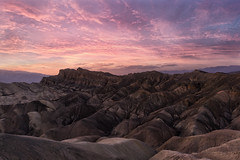 Death Valley @ sundown (Explored 29 nov. 2017) (RigieNL) Tags: sundown sunset purple sky clouds usa california america nature landscape rock insta instagram sony sonya6000 zabrinskie zabrinskiepoint deathvalley pink