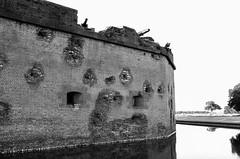Fort Pulaski National Monument (dpsager) Tags: bw civilwar dpsagerphotography eos1v film fortpulaski fortpulaskinationalmonument georgia ilforddelta100 savannah thanksgiving