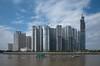 . (Out to Lunch) Tags: saigon pearl complex new urban living suburban color sky flats highrises river fuji xt1 fujinon 28 14mm