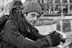 The Adventurer (Olivier Pouzin) Tags: adventurer photographer baroudeur photographe seine banks paris berges quais fuji xt1 nb bw bn noiretblanc