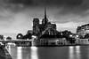 Notre Dame in B&W (Bouhsina Photography) Tags: paris france architecture monument église notre dame seine bouhsina bouhsinaphotography canon 5diii long exposition nueage bw noiretblanc blackwhite pont ile