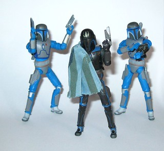 death watch pre vizsla cw08 and mandalorian warriors from battle pack star wars the clone wars blue and black packaging basic action figures 2010 hasbro b