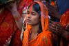 Sunrise prayer on Chhat Puja (puuuuuuuuce) Tags: india chhatpuja prayer incense varanasi