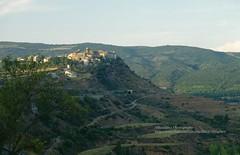 Near Tremp, village and landscape (blauepics) Tags: spain spanien landscape landschaft cataluña katalonien catalonia hills hügel mountains berge meadows wiese fields felder tremp village dorf road strasse
