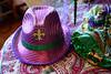 Beneath the Christmas Mardi Gras Tree (BKHagar *Kim*) Tags: bkhagar christmas tree mardigras decorations decorate hat fleurdelis