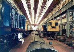 St Rollox 30-05-1981 (Simmo (26046)) Tags: 26 class26 20 class20 27 class27 st rollox glasgow glasgowworks 20135 27120 27112 20195 26001 20224 26035 27023 26046