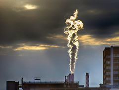 Huningue III (stega60) Tags: basel huningue smoke industry sky clouds wolken sonne sun lights lichter industrie architektur stega60