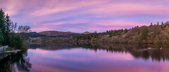 Burrator Sunset (Adam Court) Tags: devon dartmoor reservoir water lake reflection man made sky sunset indigo purple blue south west england plymouth sigma 30mm contemporary sony a6000 winter clouds sun atmosphere 10 stop nd nd1000 polariser