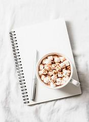 hot chocolate... (sonja-ksu) Tags: drink hotchocolate notepad inspiration planning christmas foodphotography
