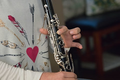 Learning To Play 1986 (casch52) Tags: music clarinet instrument lesson musical education sound black melody school blow musician person young playing classic people girl teen background learning classical play caucasian female beautiful learn closeup kid child youth studio detail art concert equipment performance performer note pupil student