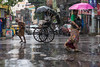 Kokata, 2017 (d.vanderperre) Tags: india kolkata street bengal calcutta rickshaw rain