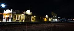 KINGMAN, Amtrak Station on old 66. (Woodypug) Tags: railroad route66 kingman arizona atsf bnsf photography night amtrak