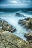 Face à l'océan - V2 (Seb BAUDIN) Tags: d7000 tokina 1224 filtre lee big stopper nd1000 pose longue mer océan falaise vagues bretagne morbihan quiberon côte sauvage breizh seascape rock sea pierre eau sébastien baudin