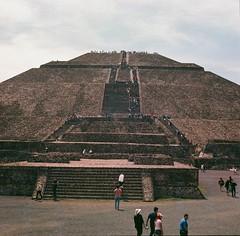 Pyramid of the Sun (marykatharinepayne1) Tags: teotihuacan pyramid 120mm hasselblad stone travel