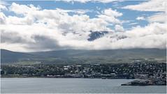 Iceland . Akureyri . Eyjafjörður (:: Blende 22 ::) Tags: landscape landschaft wolken bewölkt clouds cloudy bluesky green mountain berge schnee snow fluss canoneos5dmarkiv ef2470f28liiusm iceland island