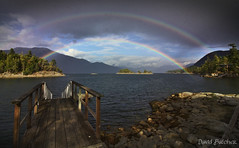Double Down (Just Call Me Dave) Tags: hardyisland britishcolumbia efs1018f4556isstm rainbow water clouds sunny autumn