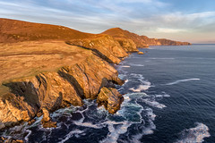 """Slieve League & The Bunglas Cliffs"" (Gareth Wray - 10 Million Views, Thank You) Tags: sea ocean coast strand beach seascape scape county donegal reflection ireland irish rocks nature natural horizon tourist cliffs scenic waves atlantic stack summer visit cliffscape nikon gareth wray strabane way sky photographer head melmore murder hole sun set sunset dji phantom 4 four drone quadcopter aerial vacation peninsula holiday europe day water rock formation landscape cliff shore sand wave wild slieve league carrick highest"