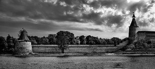 The Pskov Krom (b&w)