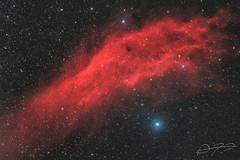 California Nebula (Alejandro Pertuz) Tags: nebula california astronomy astrophotography science space cosmos universe longexposure nightsky hydrogen