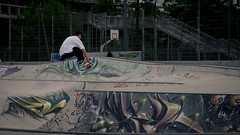 Indy on the hip (Grégoire Parker) Tags: nikon d5300 skateboard skate skatepark indy hip transfert tag graff graffiti outdoor outside dehors extérieur streetart street art paint peinture dslr rueilmalmaison france