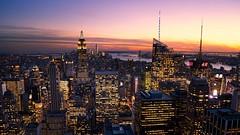 Sunset in the city (Jim Nix / Nomadic Pursuits) Tags: 28mmf2 bigapple empirestate jimnix manhattan nyc newyork newyorkcity nomadicpursuits sony sonya7ii cityscape landmark mirrorless primelens travel luminar2018