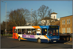 34594, Rugby (Jason 87030) Tags: 34594 86 woodlands service route rugby benn hall2 tower november 2017 blue white red orange transbus dart slf pointer wheels kp04gzr publictransport color colour light lighting snap shot shoot camera sony ilce alpha fast a6000 nex lens hide aspect stagecoach modern fleet buses