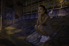 Ya on Thonglor (jonasfj) Tags: nikond750 35mm wideanglelens 3514g thonglor tonglor bangkok thailand asia southeastasia sukhumvitsoi55 sukhumvit graffitti spraypaint posters sitting ya jantira wwwboudoirbyyacom the cu thecuckoosnest squatting evening night nightphotography highiso fluorescentlight streetportrait portrait model fashion girl woman thaigirl