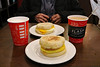 Egg breakfast sandwiches (Canadian Pacific) Tags: alberta canada canadian rocky mountains rockies banff town centre center downtown second cup coffee shop cafe café 2017aimg0204 egg sandwich 317 banffavenue wolfstreet