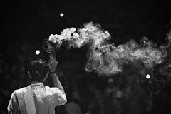 Incense (Feca Luca) Tags: street reportage night blackwhite asia nikon varanasi india religion religione hindu ritual notturno