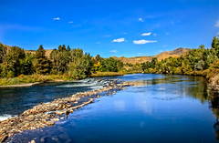 Looking Up The Payette River (http://fineartamerica.com/profiles/robert-bales.ht) Tags: emmett forupload haybales idaho people photo places projects riverorstream states gemcounty mountain sweet squawbutte scenic treasurevalley emmettvalley trees thebutte beautiful awesome magnificent peaceful wow town butte gem river payetteriver southwesternidaho reflections water scenicbiway blue whitewater picturesque mountains payette riverphotography tributary robertbales snakeriver fallcolor fall autumn autumncolor