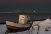 A cold morning in Vardø (Kjell75) Tags: vardø varanger norway northernnorway bbc ngc pentaxart pentax ricoh sigma visitvardø visitnorway discovery outdoor nature moon sea sky water clouds