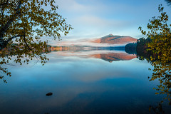 Chocorua (Robert Clifford) Tags: newhampshire atmosphere autumn chocorua color fall fog foliage historic lake mist mountainrange moutain moutains nh reflection robcliffordphotography robertclifford robertallancliffordcom scenic sky trees view water weather whitemountainnationalforest whitemountains