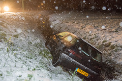 10122017-9682 (Sander Smit / Smit Fotografie) Tags: stadsweg appingedam gladheid sneeuw ongeluk sloot winterweer winter