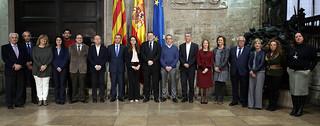 El president de la Generalitat, Ximo Puig, preside la reunión de la Mesa de Diálogo Social de la Comunitat Valenciana. (14/12/17)