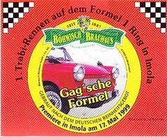 Germany - Böhmisch Brauhaus (Großröhrsdorf) (cigpack.at) Tags: grosröhrsdorf germany deutschland böhmisch brauhaus trabirennen trabant imola 1999 gagsche formel bier beer brauerei brewery etikett label bieretikett flaschenetikett flaschenbier