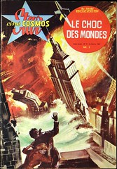 "George Pal's ""When Worlds Collide"" (1951). French Photo-Novel No. 11, ""Le Choc Des Mondes,""published by Cine Periodiques (February 24, 1962). (lhboudreau) Tags: movietiein mti whenworldscollide bellus zyra 1951 georgepal motionpicture classicsciencefiction film classicscifi scifi chesleybonestell rudolphmate photonovel france frenchedition frenchphotonovel cinecosmos starcinecosmos cinecosmosstar no11 number11 cineperiodiques 1962 february241962 lechocdesmondes frenchtext moviescenes magazine magazines coverart illustration illustrations magazinecover magazineart paperback paperbacks paperbackcover paperbackart artwork philipwylie wylie spaceark worldscollide"
