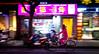 pink lady (Rob-Shanghai) Tags: shanghai night pan china street rx10m2 bike shops pink cycle