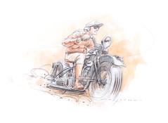 HD2s (Stefan Marjoram) Tags: car sketch vintage art drawing watercolour