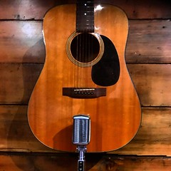 Budding Romance (Pennan_Brae) Tags: mic musicphotography music acoustic recording recordingstudio musicstudio vintagemicrophone microphone guitar acousticguitar