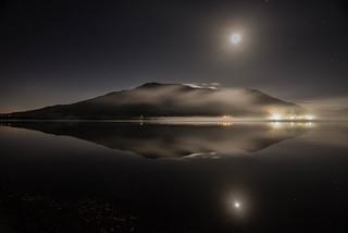 Moonlit mist over Bassenthwaite