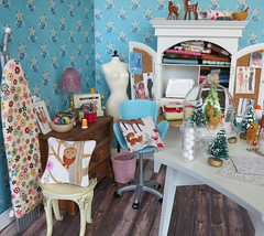 A slice of heaven (Foxy Belle) Tags: dollhouse miniature doll craft room christmas project bottlebrush tree make diy 16 diorama playscale barbie arts