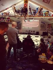 Speedrunners gameshed tournament. #retrovideogames #sega #retro #retrogaming #gameshed #mancave #gaming #videogameroom#ps4 #gaming #sony #speedrunners #videogamecollection (tomrabett) Tags: gaming mancave videogamecollection retrogaming sony gameshed sega retro ps4 videogameroom speedrunners retrovideogames