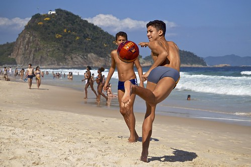 Footvolley at Leme beach