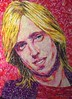 More #tompetty #portrait work in progress #fortworthtexas #artist #recycle #candy  #wrappers (dcescott) Tags: tompetty portrait fortworthtexas artist recycle candy wrappers