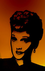 Lucille (Brian 104) Tags: silhouette art lucilleball shadows wallhanging gradient