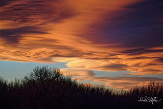 Swirling Clouds At Sunset (Explored)