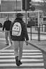2017♦296 (ruggeroranzani_RR) Tags: digital blackandwhite nikond300 nikondx55200mm1456ged people man crosswalk piazzaleroma venice