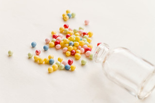 Spilled colorful sprinckles