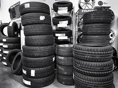 Winterscape 2018 # 3  .... ; (c)rebfoto (rebfoto ...) Tags: tires wintertires rebfoto industrialphotography blackandwhite monochrome bw lifeinbw