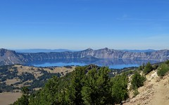 Last (and Best) view of Crater Lake this hike (From Mt Scott) (dinannee) Tags: